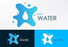 Diseño líquido del agua del logotipo Imagen de archivo
