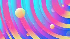 Diseño líquido del fondo del color del círculo de la diversión La pendiente flúida circundó la composición de las formas Carteles ilustración del vector