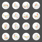 Diseño largo de la sombra del web de los iconos de los ciervos Fotos de archivo