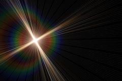 Diseño ligero futurista del fondo de la llamarada que brilla intensamente ilustración del vector
