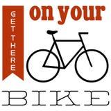 Diseño limpio de la bici Foto de archivo