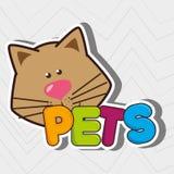 diseño lindo de los animales domésticos Imágenes de archivo libres de regalías