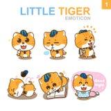 Diseño lindo del Emoticon - Cat Set Fotografía de archivo