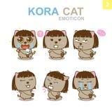 Diseño lindo del Emoticon - Cat Set Foto de archivo libre de regalías