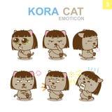 Diseño lindo del Emoticon - Cat Set Fotos de archivo