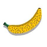 Diseño lindo del modelo inconsútil Elementos del fondo de Memphis, plátanos y efecto dibujados mano de la acuarela Impresión de l Fotos de archivo libres de regalías