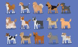 Diseño lindo del vector de la historieta del perro stock de ilustración