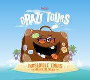 Diseño loco de los viajes Imagen de archivo libre de regalías