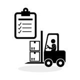 Diseño logístico Concepto del envío y de la entrega Foto de archivo libre de regalías