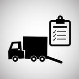 Diseño logístico Concepto del envío y de la entrega Imagenes de archivo