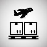 Diseño logístico Concepto del envío y de la entrega Fotos de archivo