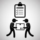 Diseño logístico Concepto del envío y de la entrega Fotos de archivo libres de regalías