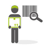 Diseño logístico Concepto del envío y de la entrega Imagen de archivo