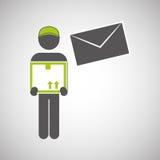 Diseño logístico Concepto del envío y de la entrega Foto de archivo