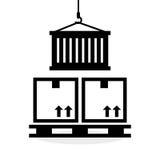 Diseño logístico Concepto del envío y de la entrega Imágenes de archivo libres de regalías