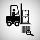 Diseño logístico Concepto del envío y de la entrega Fotografía de archivo