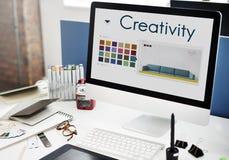 Diseño Logo Concept de la inspiración de la creatividad imagen de archivo libre de regalías