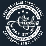 Diseño Los Ángeles stock de ilustración