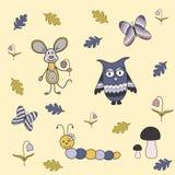 Diseño mágico de Forest Doodling, ejemplo de los niños ilustración del vector