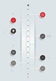 Diseño mínimo de la cronología de Infographics Imágenes de archivo libres de regalías