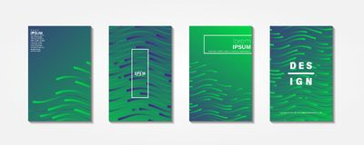 Diseño mínimo de las cubiertas libre illustration
