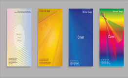 Diseño mínimo de las cubiertas del vector Pendientes de semitono frescas Plantilla futura del cartel Fotos de archivo