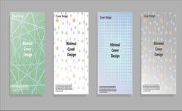 Diseño mínimo de las cubiertas del vector Pendientes de semitono frescas Plantilla futura del cartel Imagenes de archivo