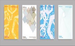 Diseño mínimo de las cubiertas del vector Pendientes de semitono frescas Plantilla futura del cartel Fotografía de archivo