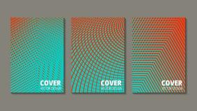 Diseño mínimo de las cubiertas del vector Pendientes de semitono frescas futuro libre illustration