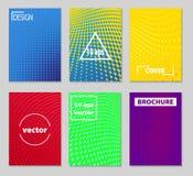 Diseño mínimo de las cubiertas del vector Pendientes de semitono frescas Futuro Po Fotos de archivo libres de regalías