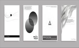 Diseño mínimo de las cubiertas del vector Rebecca 36 Plantilla futura del cartel Fotografía de archivo libre de regalías