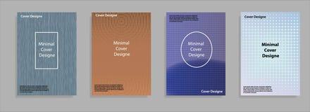Diseño mínimo de las cubiertas Pendientes de semitono frescas Plantilla geométrica futura Vector Eps10 Imagenes de archivo