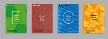 Diseño mínimo de las cubiertas Pendientes de semitono geométricas Vector Eps10 Foto de archivo libre de regalías