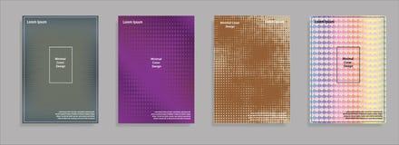 Diseño mínimo de las cubiertas Pendientes de semitono geométricas Vector Eps10 Foto de archivo