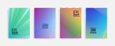 Diseño mínimo de las cubiertas Pendientes de semitono geométricas Vector Eps10 ilustración del vector