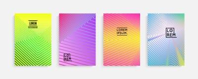 Diseño mínimo de las cubiertas Pendientes de semitono geométricas Vector Eps10 stock de ilustración