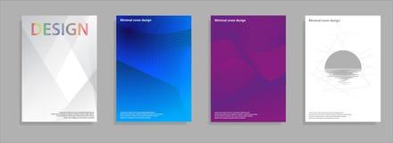 Diseño mínimo de las cubiertas Pendientes de semitono geométricas Vector Eps10 Fotografía de archivo