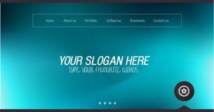 Diseño mínimo del Home Page del sitio web con el fondo del resbalador ilustración del vector
