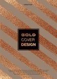 Diseño mínimo moderno y elegante Fondo brillante de cobre Textura metálica Metal de bronce libre illustration