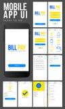 Diseño móvil de Apps UI del pago en línea Foto de archivo libre de regalías