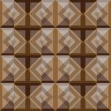 Diseño marrón del fondo de los cuadrados del extracto Imagen de archivo