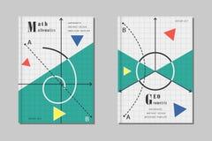 Diseño matemático de la cubierta Imágenes de archivo libres de regalías