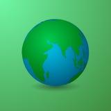 Diseño material de la tierra verde y limpia libre illustration