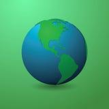 Diseño material del mundo verde y limpio libre illustration