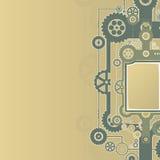 Diseño mecánico de los cogworks Foto de archivo libre de regalías