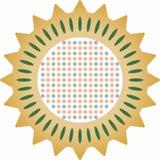 Diseño mediterráneo el repujado con el ejemplo colorido foto de archivo