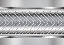 Diseño metálico abstracto de la tecnología del vector de las flechas Foto de archivo