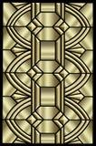 Diseño metálico del art déco Imagenes de archivo