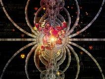 Diseño metafórico de la matemáticas stock de ilustración