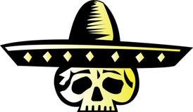 Diseño mexicano 2 del cráneo Fotografía de archivo libre de regalías